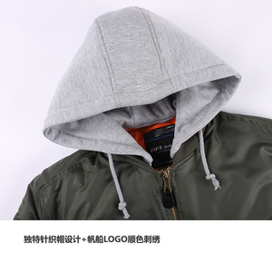 Image 5 - 2019 Winter oversized MA 1 with hooded streetwear hip hop army military coats clothes bomber flight air force pilot jacket men