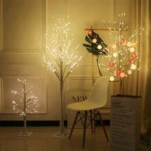 Светодиодная лампа серебряной березы для рождественского фестиваля