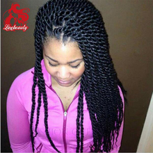 Glueless Synthetic Lace Front Wig Micro Braids African American Women Wig Black Twist Braided Lace Front Wig For Black Woman