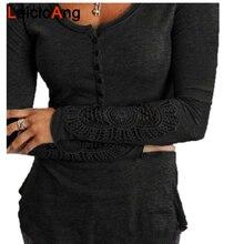 Casual Women Pullover O-Neck Gray Hoodies Long-sleeve Medium Thickness Slim Solid Button Sweatshirts for Women Svitshot WP318