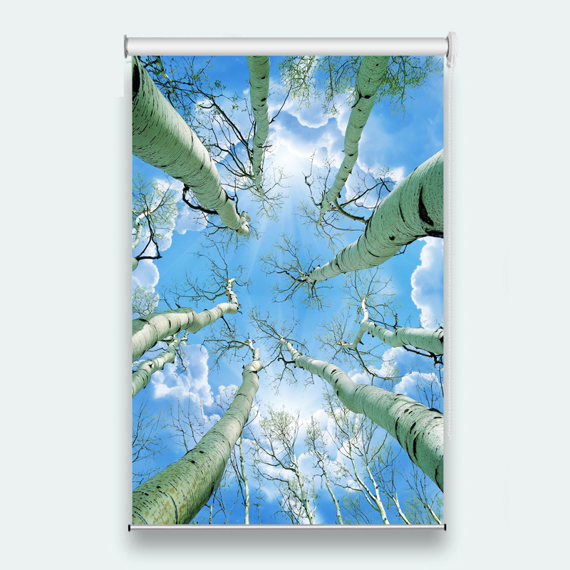 Customized Sunscreen Roller Blinds Blue sky and white clouds window long curtain for the living room blind roll roller blinds  Customized Sunscreen Roller Blinds Blue sky and white clouds window long curtain for the living room blind roll roller blinds