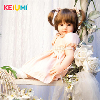 New Arrival 24'' 60 cm Silicone Soft Reborn Doll Babies Lifelike Fashion Princess Girl Baby Doll For Children's Day Holiday Gift