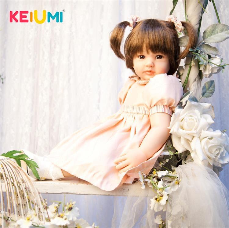 Nouveauté 24 ''60 cm Silicone Souple Reborn Poupée Bébés Réaliste Mode Princesse Fille Bébé Poupée Pour Enfants de Jour vacances Cadeau