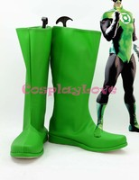 Newest Custom Made American Movie Green Lantern Cosplay Shoes Long Boots For Halloween