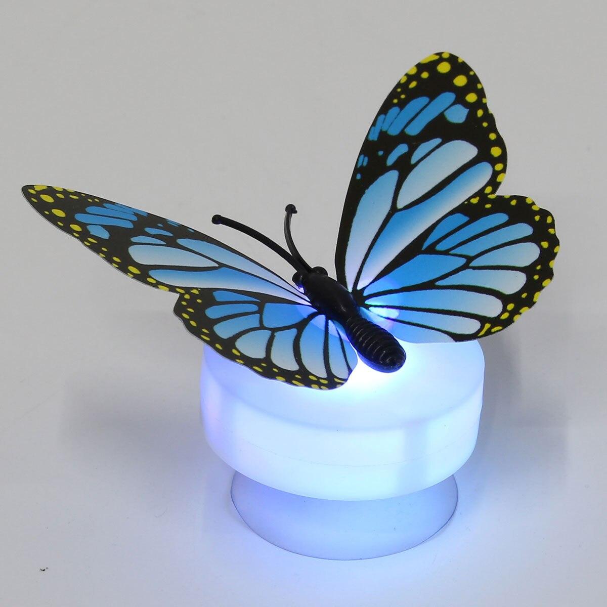 Jiguoor 7 цветов Изменение Красивая Милая бабочка свет в ночь детские детская комната Настенный светильник лампа Lamparas Luminarias лампе