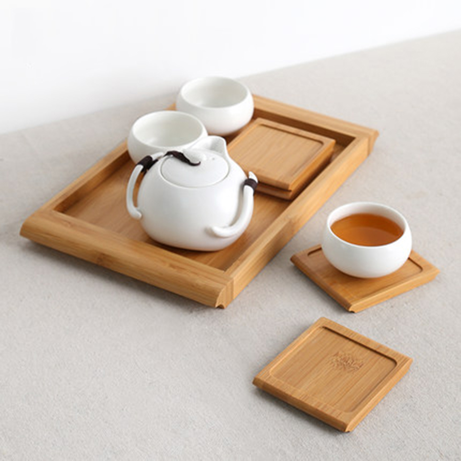 US $6.97 50% OFF|Modern Kitchen Accessories Pad Wooden Table Mat Handmade  Square Wood Coasters Cup Onderzetters Hout Kitchen Supplies 50N5024-in Mats  ...