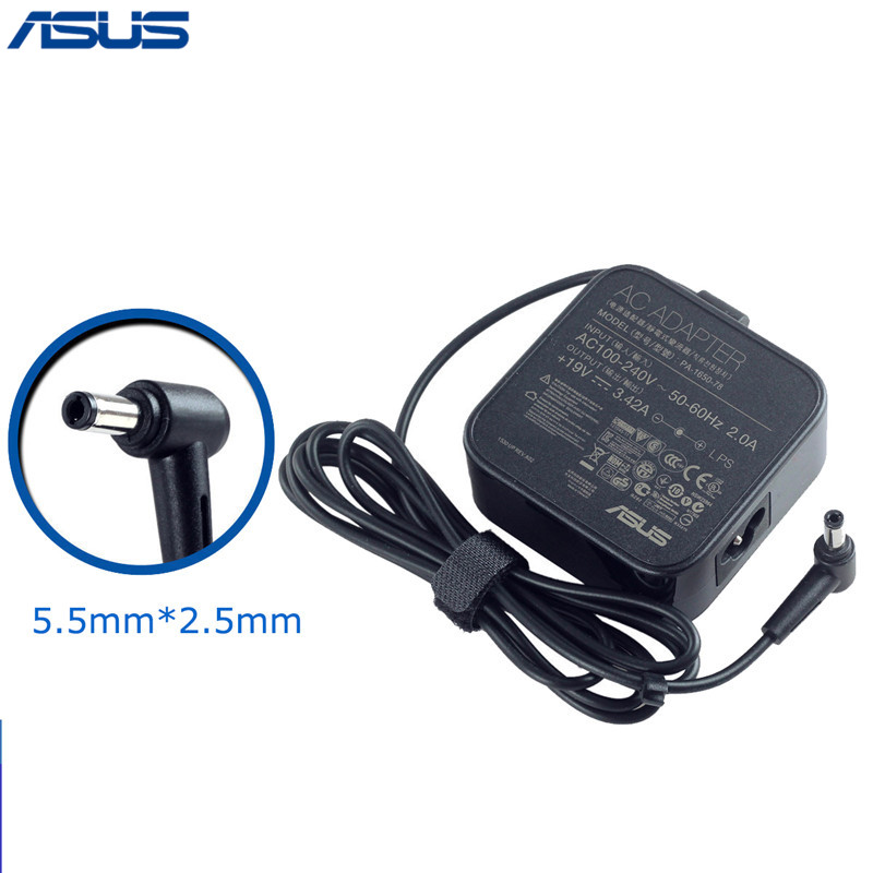 Asus 19V 3.42A 65W 5.5*2.5mm PA-1650-78 AC Power Charger adapter For Asus Laptop lidy pa 1650 02hc 65w 3 5a ac power adapter for hp compaq cq35 cq40 cq45 7 4 x 5 0mm
