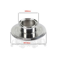 Short Tri Clamp Reducer 4 102mm OD119mmx 2 51mm OD64mm Height 25mm SS 304 Stainless Steel