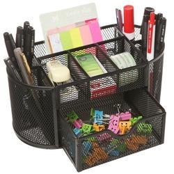 Сетка коллекция овальная Поставка Caddy Настольный органайзер офисный ящик с держателем ручки коллекция, черный
