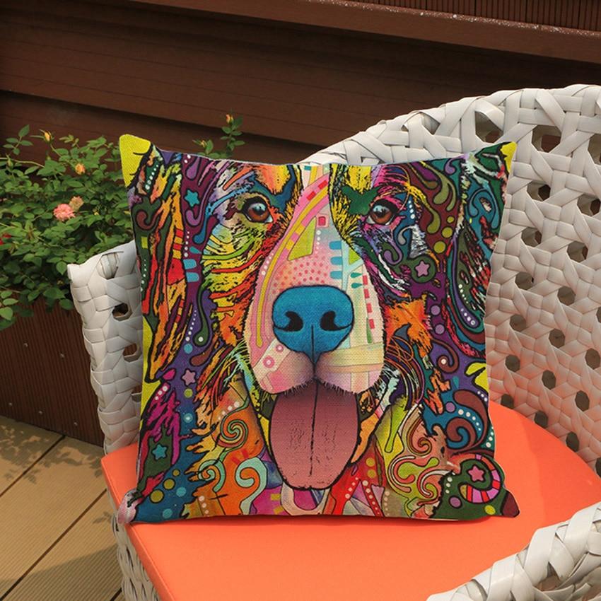 High Quality Car Printed Cotton Linen Blackout Curtain: ���‰POP Art French ���ʕ ʔ୨ Bulldog Bulldog Puppy Cushion Cover