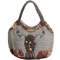 Kweco Vader Small Handbag Ethnic Canvas Handbags Woven Chinese National Style Shoulder Bags For Women Lady