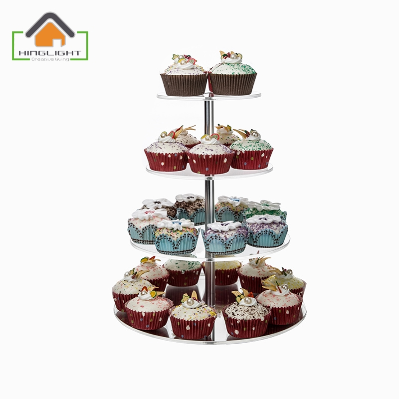 4 tier round wedding cake stand acrylic 4 tier cake stand for wedding cake clear 10381