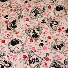 50 см * 110 см Японский Kokka Хлопок Ткань Лоскутная Лоскутное Ткань для шитья Старинные Алиса в Стране Чудес С(China (Mainland))
