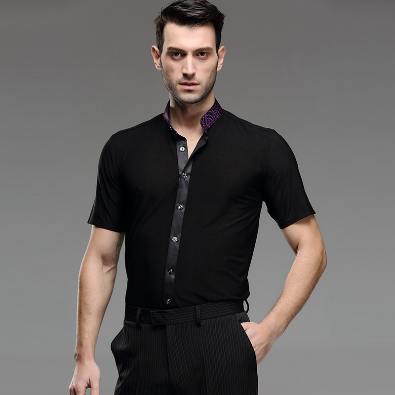 Show details for 7 Colors Adult Ballroom Latin Shirt Latin Dance Shirts Men Dance Top Mens Ballroom Dancewear Men Ballroom Clothes Ballroom Shirt