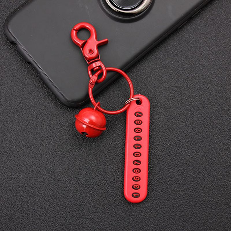 Personalized Custom Anti lost Phone Number Plate Pendant Car Keychain Jewelry in Key Chains from Jewelry Accessories