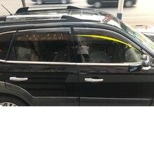 Lsrtw2017 PVC Car Window Rain Shield Trims for Hyundai Tucson 2005-2018 lsrtw2017 abs car rearview rain shield strip trims for hyundai tucson 2015 2016 2017 2018 2019 2020