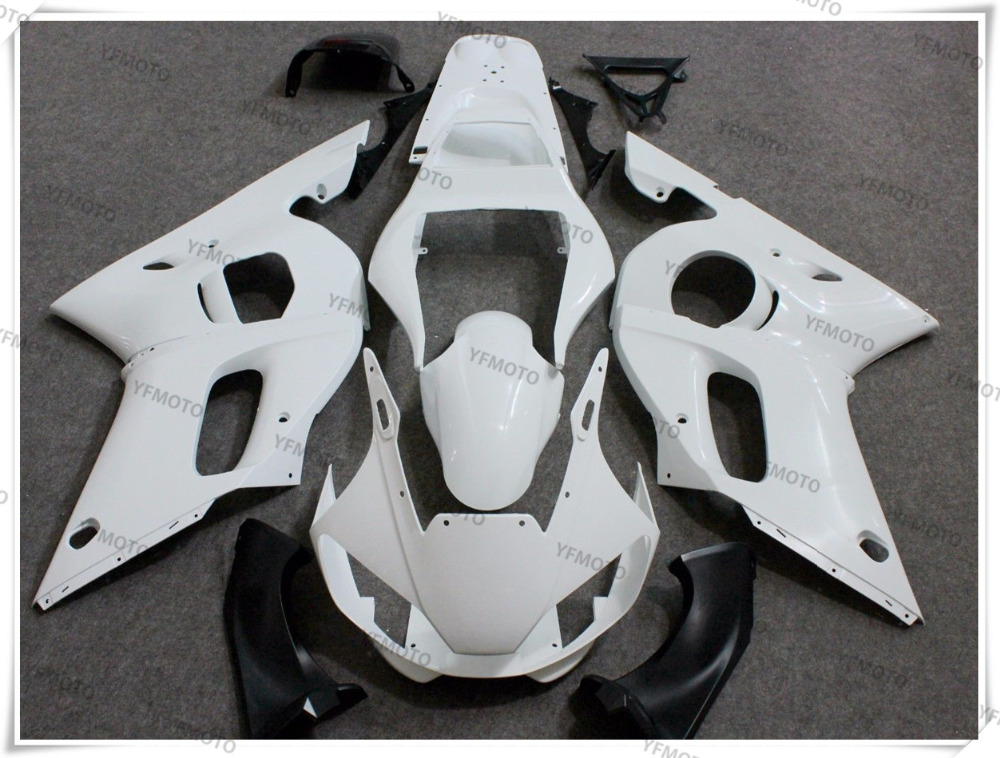 Motorcycle ABS Unpainted White Fairing Body Work Cowling For YAMAHA YZF-R6 YZF R6 1998-2002 99 00 01 +4 Gift