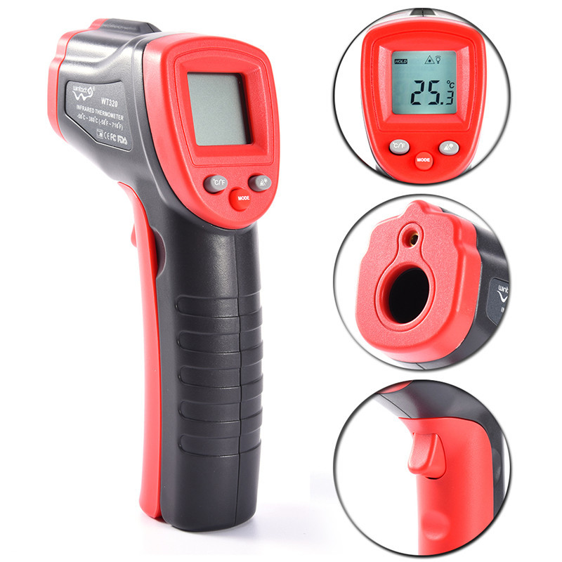 1Pcs Portable WT320 Non-Contact IR Digital Laser Infrared Ths