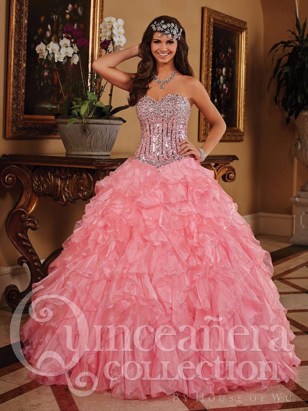 Nueva moda brillante rebordeado amor princesa bola Vestidos palabra ...