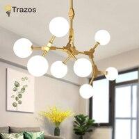 La magia del Vintage colgante Luz elegante esfera bola industrial loft hierro droplight negro Árbol de Oro clásico moderno LED lámpara colgante