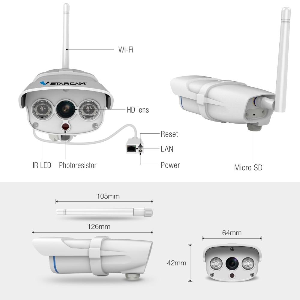 VStarcam C7816WIP Водоустойчива IP камера - Сигурност и защита - Снимка 6