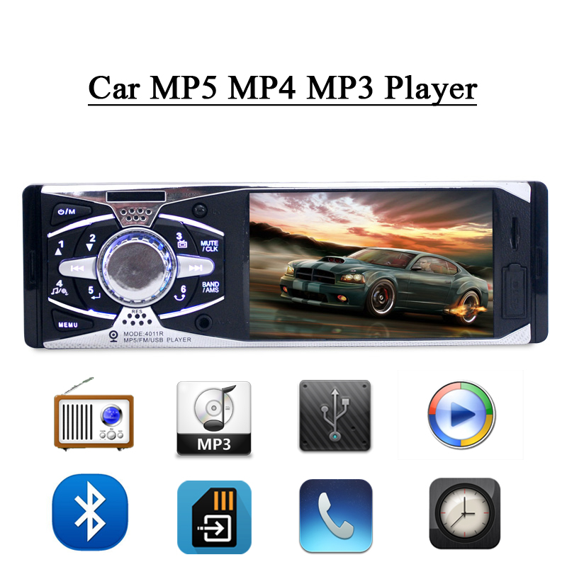 ФОТО 4.1'' Inch TFT HD Digital Screen Car MP5 MP4 MP3 Player Handfree FM Radio USB SD Player AUX-In Car Audio Stereo 1 Din