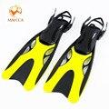 Aletas de buceo profesional para adultos zapatos de natación ajustables de silicona largos sumergible Snorkeling pie monofín aletas de buceo
