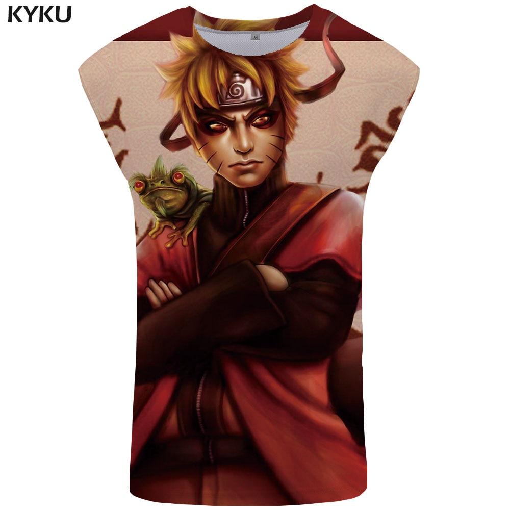 KYKU Brand Naruto   Tank     Top   Men Animal Vest Sasuke Uchiha Undershirt Harajuku Mens Bodybuilding Character Singlet