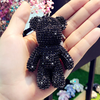 Cartoon Leather Weave Rope Bomgom Popobe Gloomy Bear Keychain Car Tassel Key Chain Ring Holder Charm Bag Pendant Keyring