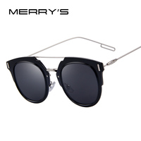 MERRYSTORE Fashion Women Cat Eye Sunglasses Men Brand Designer Rimless Mirror Unique Shades Thin Wire Glasses