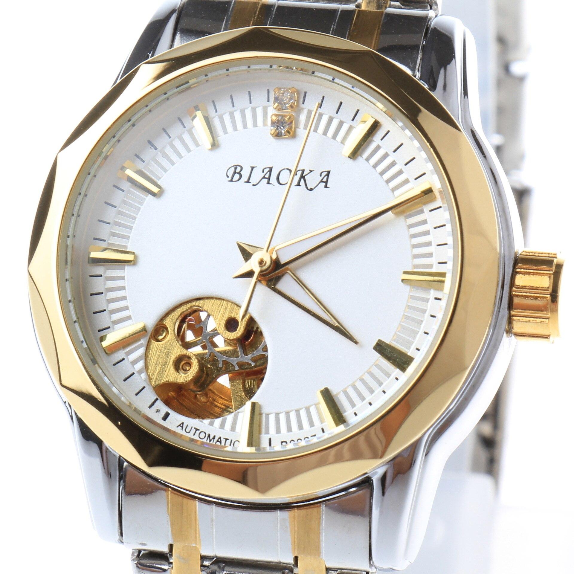 2018 New hollow steel strap watch women automatic mechanical watch women waterproof watch relogio femininos цена и фото