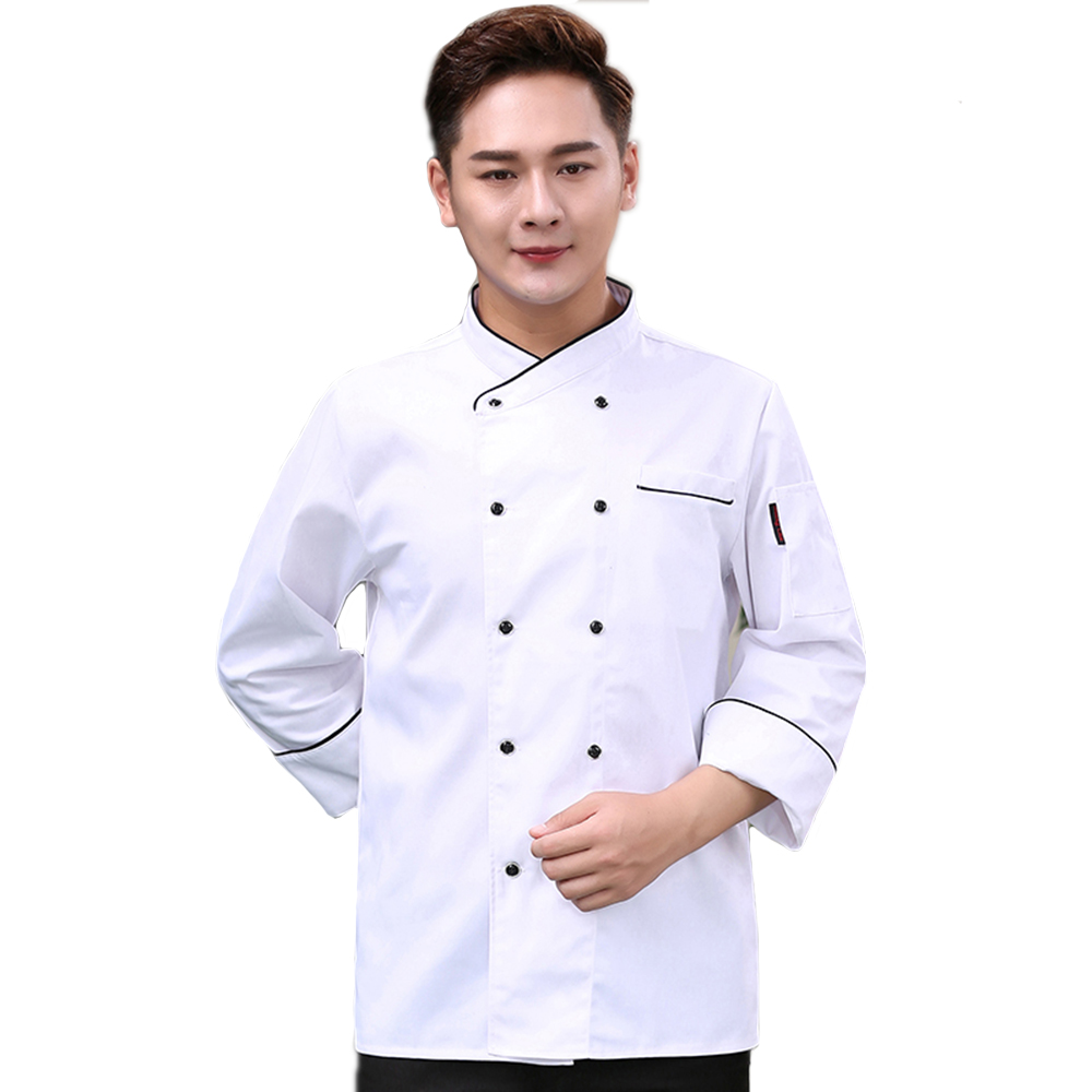 High Quality Chef's Jacket Unisex Long-Sleeved Restaurant Accessories Hotel Uniform Kitchen Work Clothes Cooking Coat Overalls