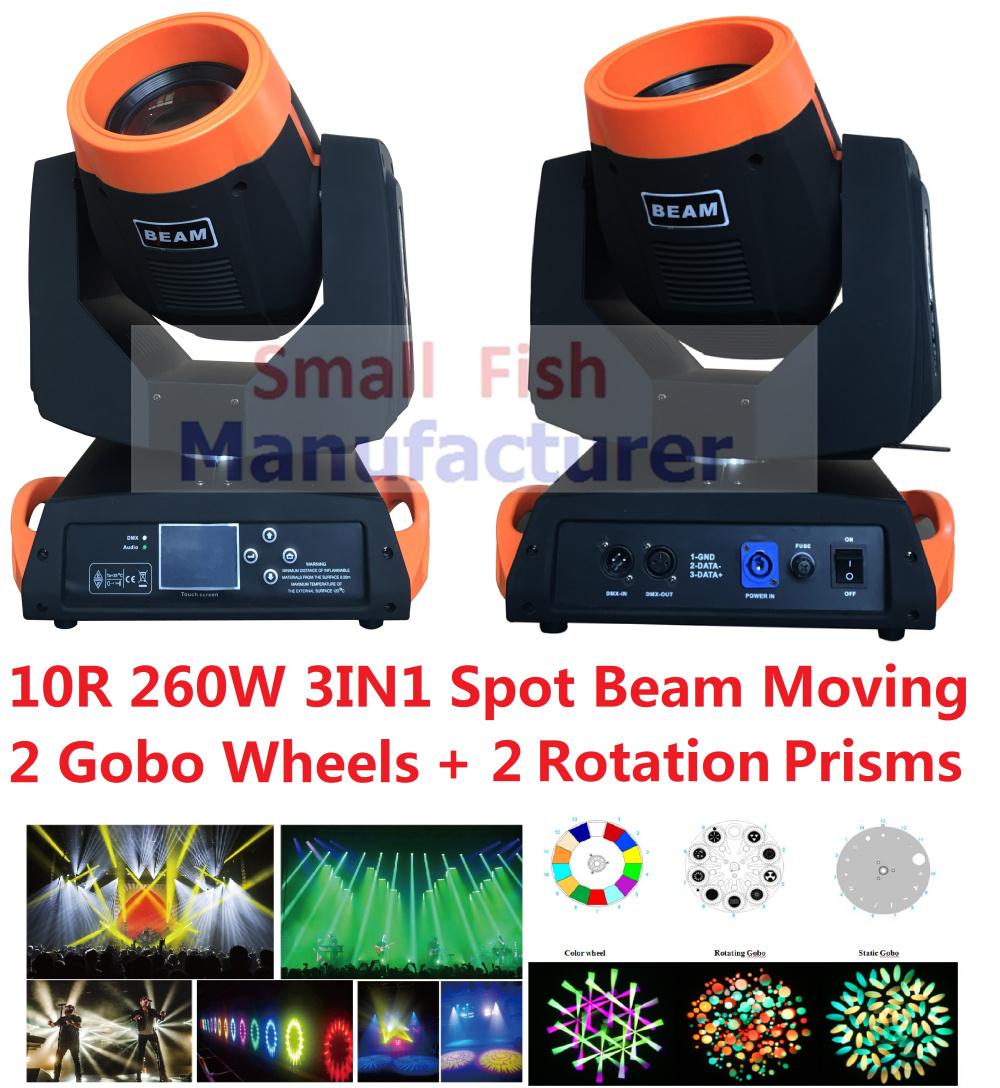 Hot Sale 260W Spot Beam 10R Lamp Sharpy Beam Moving Head Light Dmx512 Combi 3D Spot Beam Wash 3in1 Feature DJ Disco Stage Lights discount price 8 pack 180w 2r sharpy beam spot moving head light dmx512 for stage lighting dj disco club party dance wedding bar