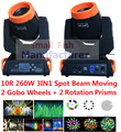 Hot Sale 260W Spot Beam 10R Lamp Sharpy Beam Moving Head Light Dmx512 Combi 3D Spot Beam Wash 3in1 Feature DJ Disco Stage Lights