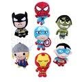 Мстители Мультфильм Куклы Человек-Паук Бэтмен Халк Железный Человек Капитан Америка Короткие Плюшевые Игрушки для Детей Подарок