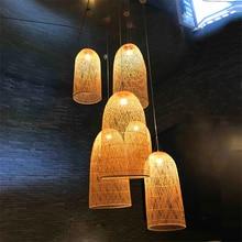 Modern Nordic Loft Light Luminaire Singe Vintage Industrial Pendant Liiving Room Rattan Light Pendant Luminaria De Teto Pendente