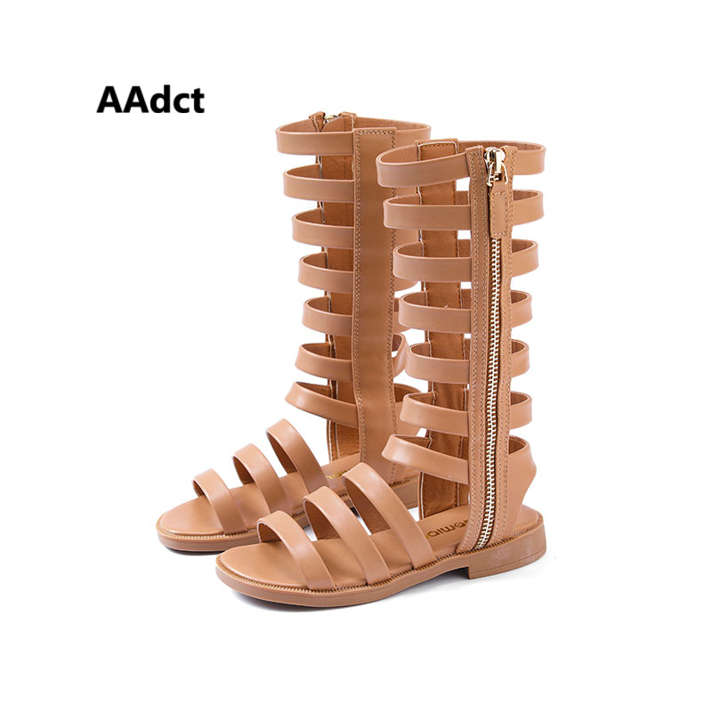AAdct 2018 summer girls sandals Rome Princess kids Gladiator sandals for girls Brand High-quality children shoes open-toe Hollow 2016 rome girls summer sandals leather shoes slip korean princess shoes 1 3 year old female baby toe sandals