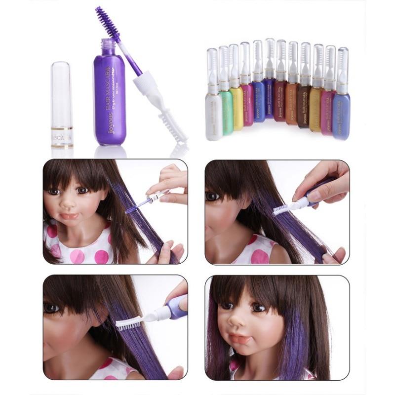 Мгновенно окрашенных волос Цвет окрашенные крем парикмахерских продуктов гребень черным кремом для волос