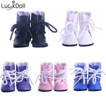 LUCKDOLL однотонные тканевые ботинки для кукол диагональю 14,5 дюйма, аксессуары для девочек, игрушки, поколение, подарок на день рождения
