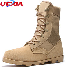 Tactical Boots Men Leather Military Boots For Men Shoes Combat Army High Top Shoes Combat Hunting Suede Stitching Canvas Bota