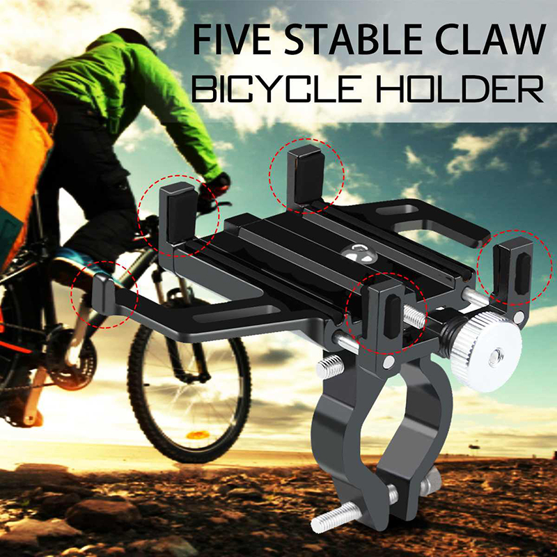 Aluminum Alloy MTB Motorcycle Bicycle Bike Handlebar Mount Cell Phone Holder Universal Bike Phone GPS Mount Handlebar Clip Stand in Phone Holders Stands from Cellphones Telecommunications