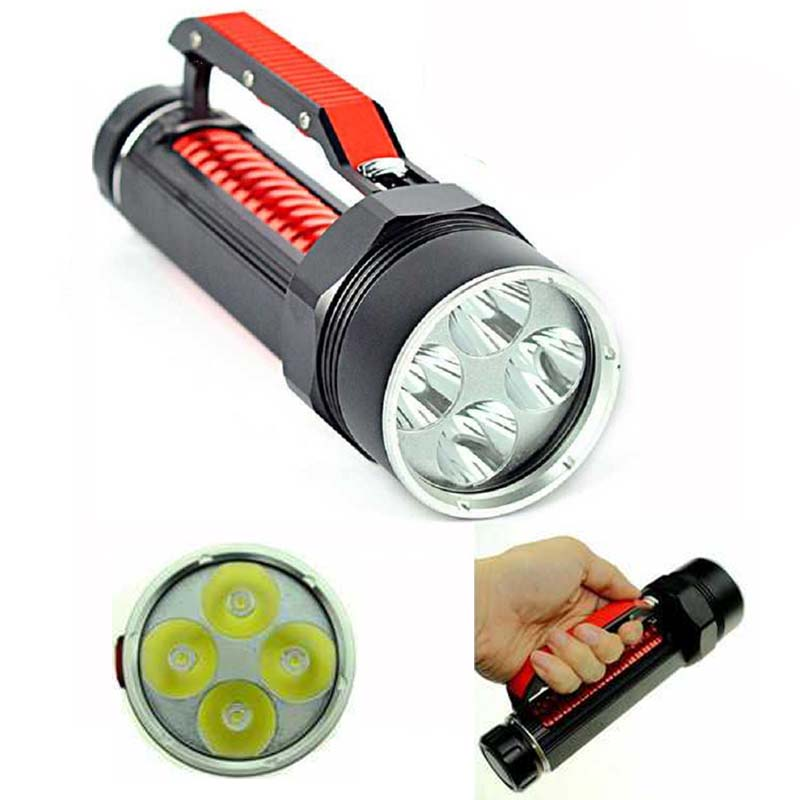 Latest Super Bright Scuba Diving Light 8000 Lumens 4 X XM-L L2 LED 100m Diving Flashlight Torch Diver Hight Quality Flashlight hight quality xml l2 10000 lumens led flashlight bright scuba silver diving light flashlight torch 4x xml l2 100m diver