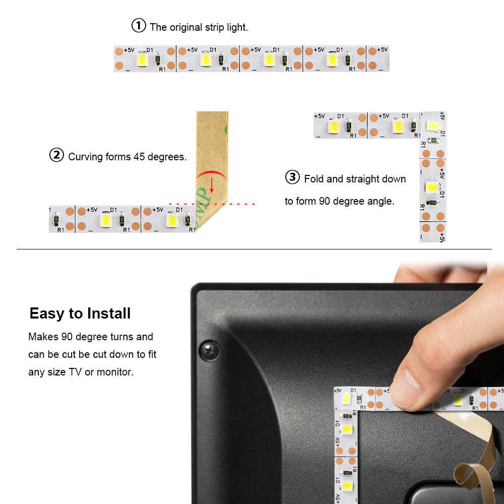 Zasilania portu USB DC 5 V taśmy LED 2835 SMD z RF pilot ściemniacz elastyczne led lampa taśma do TV, PC dekoracja do tła oświetlenie