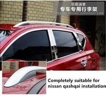Für Nissan Qashqai 2007-2015 2016 Dachträgerschienen Bar Gepäckträger Bars top Racks Schiene Boxen aluminiumlegierung