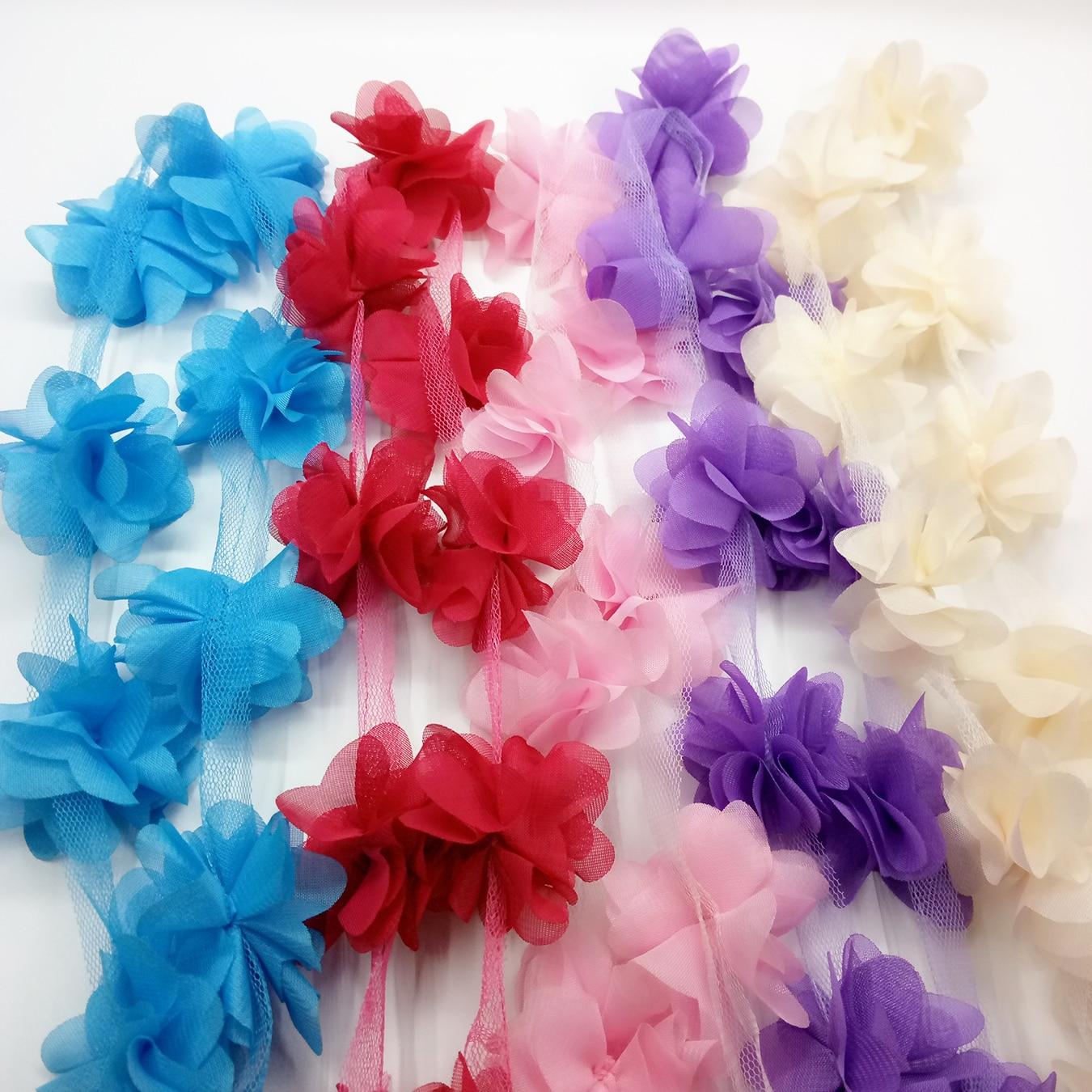 Fabric Flower Trim: Aliexpress.com : Buy 4 Yards New Fringe Lace Ribbon Trim