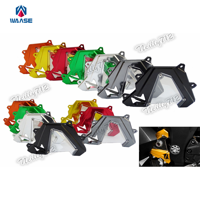 Motorcycle CNC Aluminum Front Sprocket Chain Guard Cover Left Side Engine For Kawasaki Z1000 2014 2015 2016 bjmoto cnc aluminum motorbike accessaries motorcycle engine guard cover pad for kawasaki z1000 r 2010 2011 2012