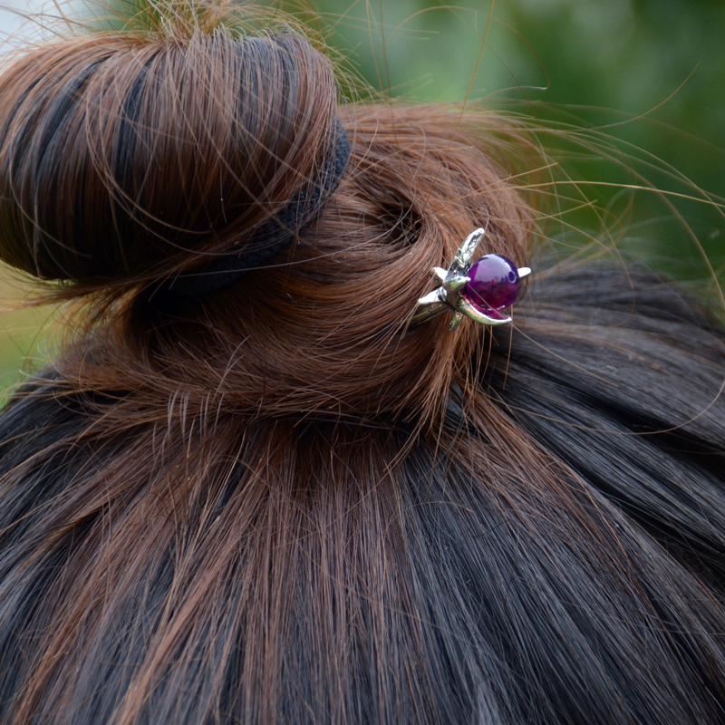 Ethnic Silver Hairpins 4