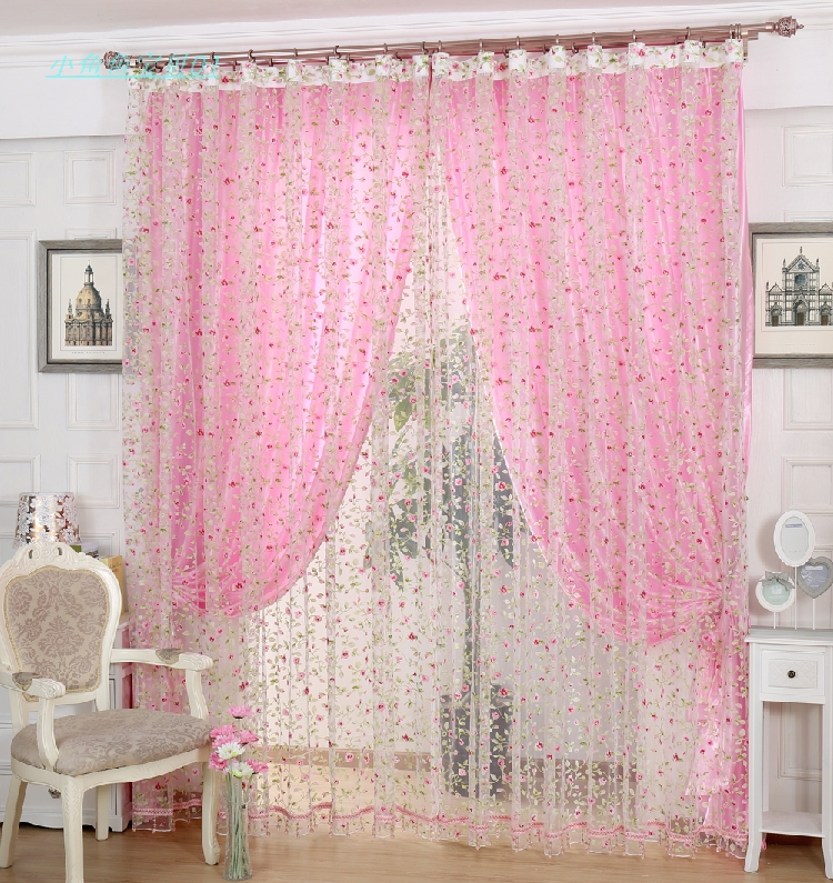 Pink curtains for bedroom curtain menzilperde net for Curtains for bedroom windows with designs