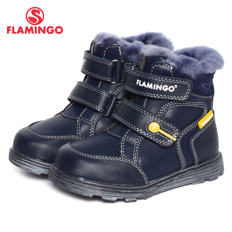 FLAMINGO 2016 new collection winter fashion boots with wool high quality anti-slip kids shoes for boys W6XY312 flamingo 2016 new collection winter fashion boots with wool high quality anti slip kids shoes for girls w6yk041