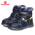 FLAMINGO 2016 new collection winter fashion boots with wool high quality anti-slip kids shoes for boys W6XY312